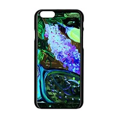 Lilac And Lillies 1 Apple Iphone 6/6s Black Enamel Case by bestdesignintheworld