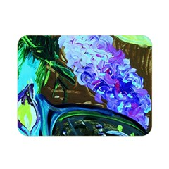 Lilac And Lillies 1 Double Sided Flano Blanket (mini)