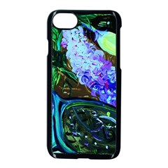 Lilac And Lillies 1 Apple Iphone 7 Seamless Case (black)