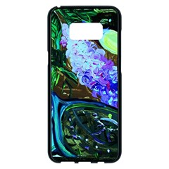 Lilac And Lillies 1 Samsung Galaxy S8 Plus Black Seamless Case