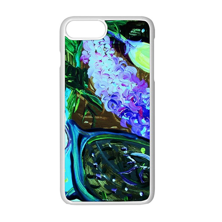 Lilac And Lillies 1 Apple iPhone 8 Plus Seamless Case (White)