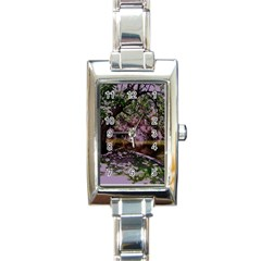 Hot Day In Dallas 31 Rectangle Italian Charm Watch by bestdesignintheworld