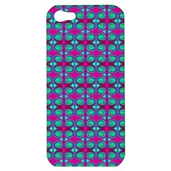 Pink Green Turquoise Swirl Pattern Apple Iphone 5 Hardshell Case
