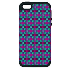 Pink Green Turquoise Swirl Pattern Apple Iphone 5 Hardshell Case (pc+silicone) by BrightVibesDesign