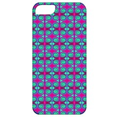Pink Green Turquoise Swirl Pattern Apple Iphone 5 Classic Hardshell Case