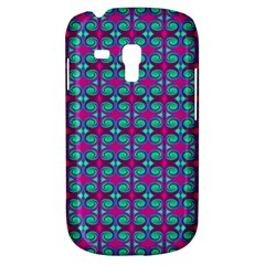 Pink Green Turquoise Swirl Pattern Galaxy S3 Mini by BrightVibesDesign