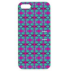 Pink Green Turquoise Swirl Pattern Apple Iphone 5 Hardshell Case With Stand