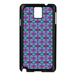 Pink Green Turquoise Swirl Pattern Samsung Galaxy Note 3 N9005 Case (Black) Front