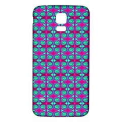 Pink Green Turquoise Swirl Pattern Samsung Galaxy S5 Back Case (white) by BrightVibesDesign