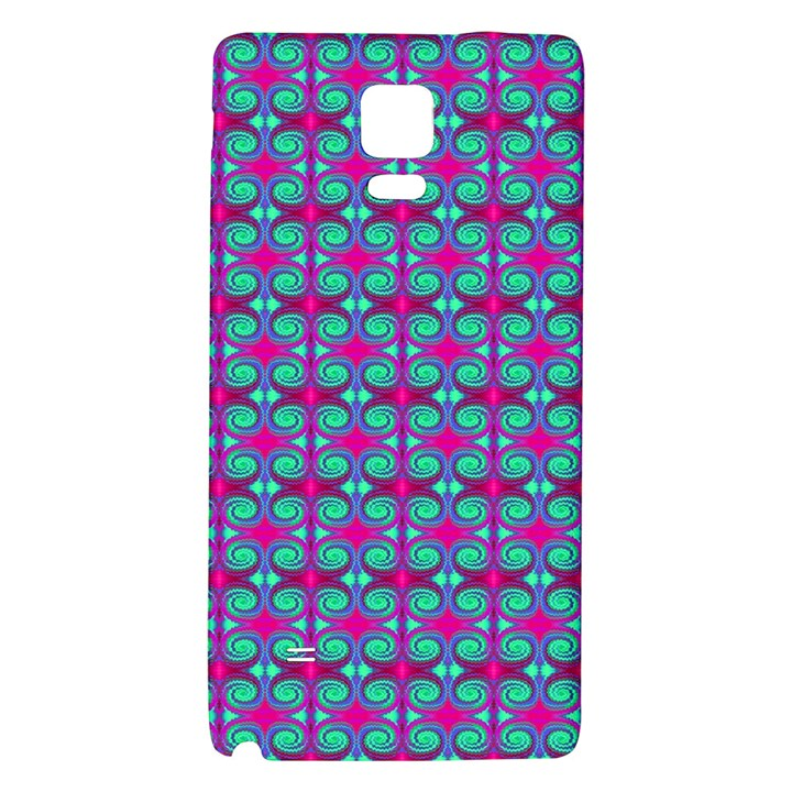 Pink Green Turquoise Swirl Pattern Galaxy Note 4 Back Case