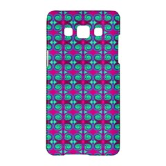 Pink Green Turquoise Swirl Pattern Samsung Galaxy A5 Hardshell Case  by BrightVibesDesign