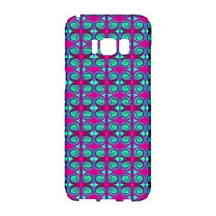 Pink Green Turquoise Swirl Pattern Samsung Galaxy S8 Hardshell Case
