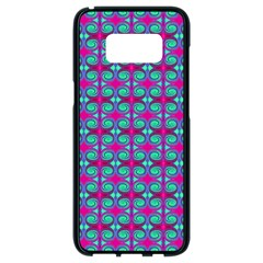 Pink Green Turquoise Swirl Pattern Samsung Galaxy S8 Black Seamless Case
