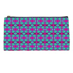Pink Green Turquoise Swirl Pattern Pencil Cases by BrightVibesDesign