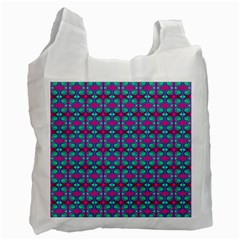 Pink Green Turquoise Swirl Pattern Recycle Bag (one Side)