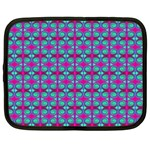 Pink Green Turquoise Swirl Pattern Netbook Case (XL)  Front