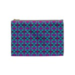 Pink Green Turquoise Swirl Pattern Cosmetic Bag (Medium)  Front