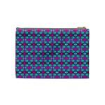 Pink Green Turquoise Swirl Pattern Cosmetic Bag (Medium)  Back