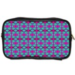 Pink Green Turquoise Swirl Pattern Toiletries Bags Front