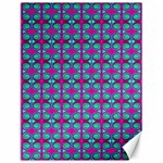Pink Green Turquoise Swirl Pattern Canvas 12  x 16   16 x12 Canvas - 1