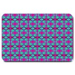 Pink Green Turquoise Swirl Pattern Large Doormat  30 x20 Door Mat - 1