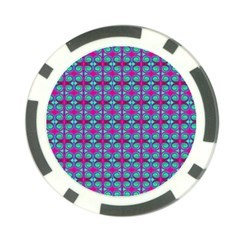 Pink Green Turquoise Swirl Pattern Poker Chip Card Guard (10 Pack) by BrightVibesDesign