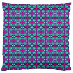 Pink Green Turquoise Swirl Pattern Large Cushion Case (One Side) Front