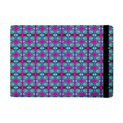 Pink Green Turquoise Swirl Pattern Apple Ipad Mini Flip Case