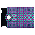 Pink Green Turquoise Swirl Pattern Apple iPad 3/4 Flip 360 Case Front
