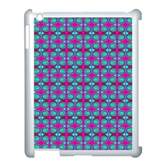 Pink Green Turquoise Swirl Pattern Apple Ipad 3/4 Case (white)