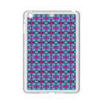 Pink Green Turquoise Swirl Pattern iPad Mini 2 Enamel Coated Cases Front