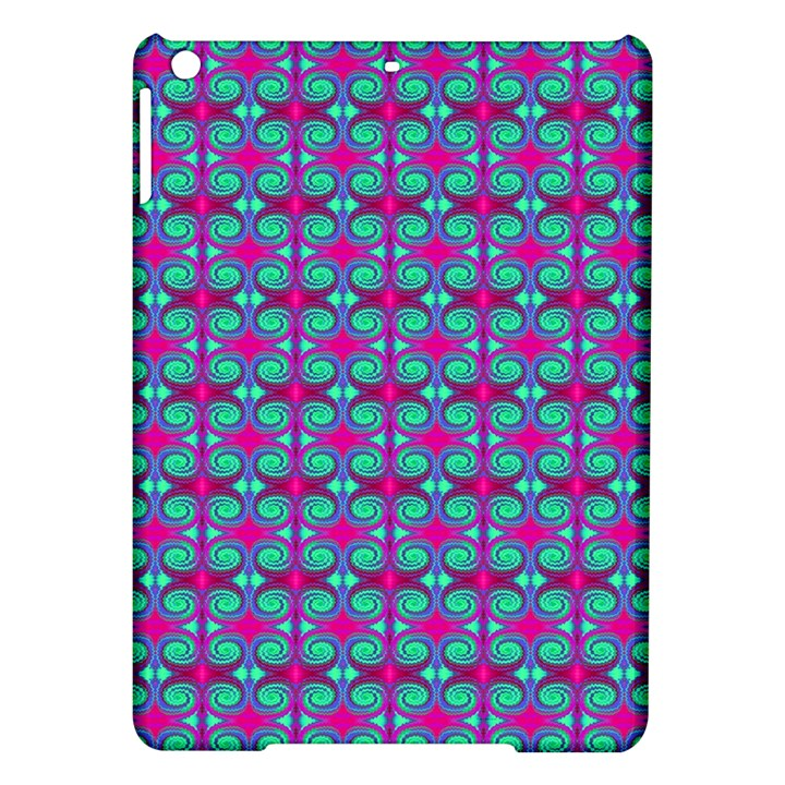 Pink Green Turquoise Swirl Pattern iPad Air Hardshell Cases