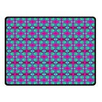 Pink Green Turquoise Swirl Pattern Double Sided Fleece Blanket (Small)  45 x34  Blanket Front