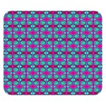Pink Green Turquoise Swirl Pattern Double Sided Flano Blanket (Small)  50 x40 Blanket Front