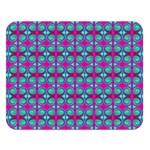 Pink Green Turquoise Swirl Pattern Double Sided Flano Blanket (Large)  80 x60  Blanket Front