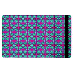 Pink Green Turquoise Swirl Pattern Apple Ipad Pro 12 9   Flip Case by BrightVibesDesign
