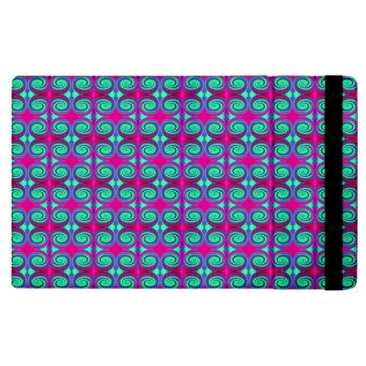 Pink Green Turquoise Swirl Pattern Apple iPad Pro 9.7   Flip Case
