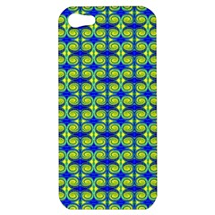 Blue Yellow Green Swirl Pattern Apple Iphone 5 Hardshell Case by BrightVibesDesign