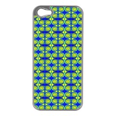 Blue Yellow Green Swirl Pattern Apple Iphone 5 Case (silver) by BrightVibesDesign
