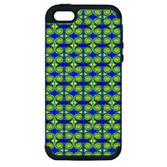 Blue Yellow Green Swirl Pattern Apple Iphone 5 Hardshell Case (pc+silicone) by BrightVibesDesign
