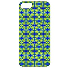 Blue Yellow Green Swirl Pattern Apple Iphone 5 Classic Hardshell Case by BrightVibesDesign
