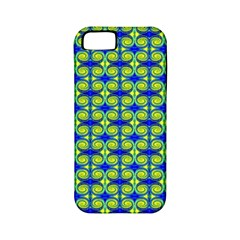 Blue Yellow Green Swirl Pattern Apple Iphone 5 Classic Hardshell Case (pc+silicone) by BrightVibesDesign