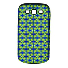 Blue Yellow Green Swirl Pattern Samsung Galaxy S Iii Classic Hardshell Case (pc+silicone) by BrightVibesDesign