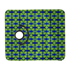 Blue Yellow Green Swirl Pattern Galaxy S3 (flip/folio)