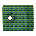 Blue Yellow Green Swirl Pattern Galaxy S3 (Flip/Folio) Front