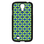 Blue Yellow Green Swirl Pattern Samsung Galaxy S4 I9500/ I9505 Case (Black) Front