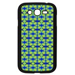 Blue Yellow Green Swirl Pattern Samsung Galaxy Grand DUOS I9082 Case (Black) Front