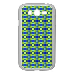 Blue Yellow Green Swirl Pattern Samsung Galaxy Grand Duos I9082 Case (white) by BrightVibesDesign