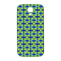 Blue Yellow Green Swirl Pattern Samsung Galaxy S4 I9500/i9505  Hardshell Back Case