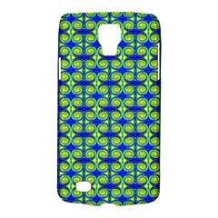 Blue Yellow Green Swirl Pattern Galaxy S4 Active by BrightVibesDesign